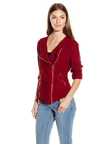 Lucky Brand Womens Unconstructed Shrunken Jacket, Biking Red, Small