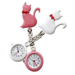 778a7d352a4685 キャットリボン ナースウォッチ 懐中時計 看護士 医療 時計 アナログ