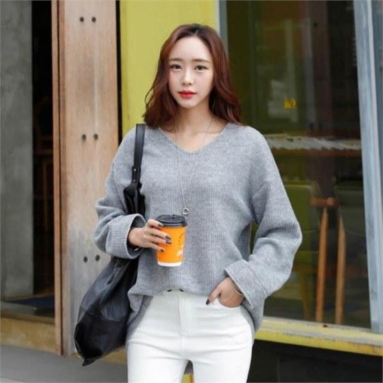 シーフォックス行き来するようにシーフォックスラジアンブイネク・ニット ニット/セーター/ニット/韓国ファッション