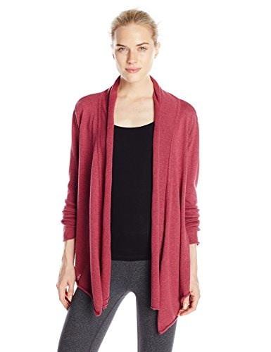 prAna Womens Georgia Wrap Sweater, Large, Plum Red