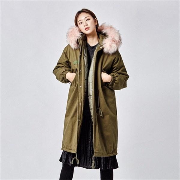 GBLACKユニークピンク・ファーさんのジャンパーjr1329jknew 女性のジャケット / 韓国ファッション/ジャケット/秋冬/レディース/ハーフ/ロング/