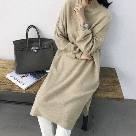 イヴリンひらきニットワンピースKorean fashion style