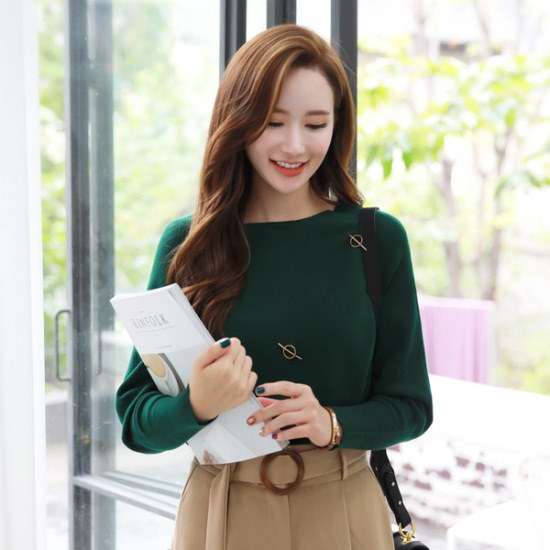 スタイルオンミルイス・エンジェルゴルドゥリンポイント香織ニット ニット/セーター/ニット/韓国ファッション