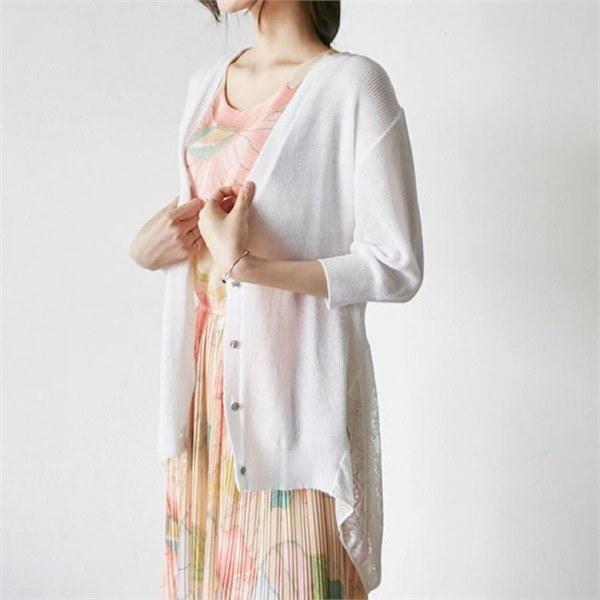 イニクシベリアレースCARDIGANカディゴンnew 女性ニット/カーディガン/韓国ファッション