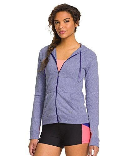 Under Armour Womens Charged Cotton® Undeniable Full Zip Large SIBERIAN IRIS