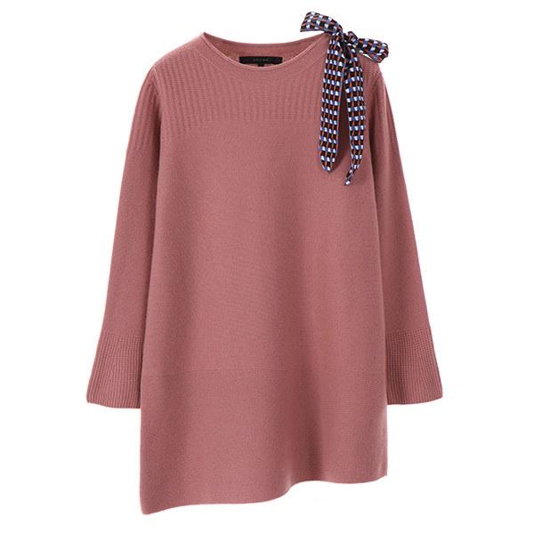 [韓国直送] 【オンエンオン] neck ribbon point knit NK7WP529