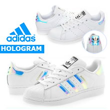 【日本未発売】★【adidas 正規品】★ADIDAS☆Super star / stan smith HOLOGRAM ホログラム AQ6278 / AQ6272