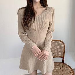 ✨DRESSCAFE✨[韓国ファッション] ♥ Limited item! ♥ (7カラー) フレアニットワンピース
