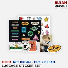 【日本国内発送】 NCT DREAM [03 LUGAGE STICKER SET - Cafe 7 DREAM] 公式 SM 1次予約 送料無料