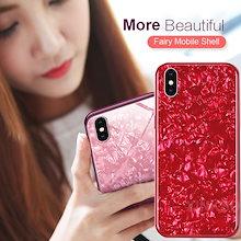 で販売する送料無料に挑戦ミラー 貝殻 ユニセックスiPhone XS Max XR XS  iPhoneXケース iPhone8 7 Samsung S9 S9 Plus Note 8 s8