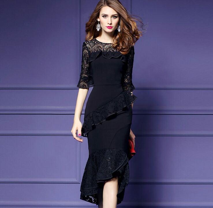 春物 夏物 最新 レディース ファッション 2018人気 可愛い 大人 ワンピース ドレス 黒 結婚式 パーティー お呼ばれ 二次会
