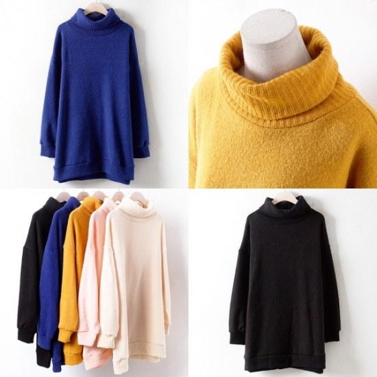 ウィスィモールRMウルポルラニトゥティY711M ニット/セーター/タートルネック/ポーラーニット/韓国ファッション