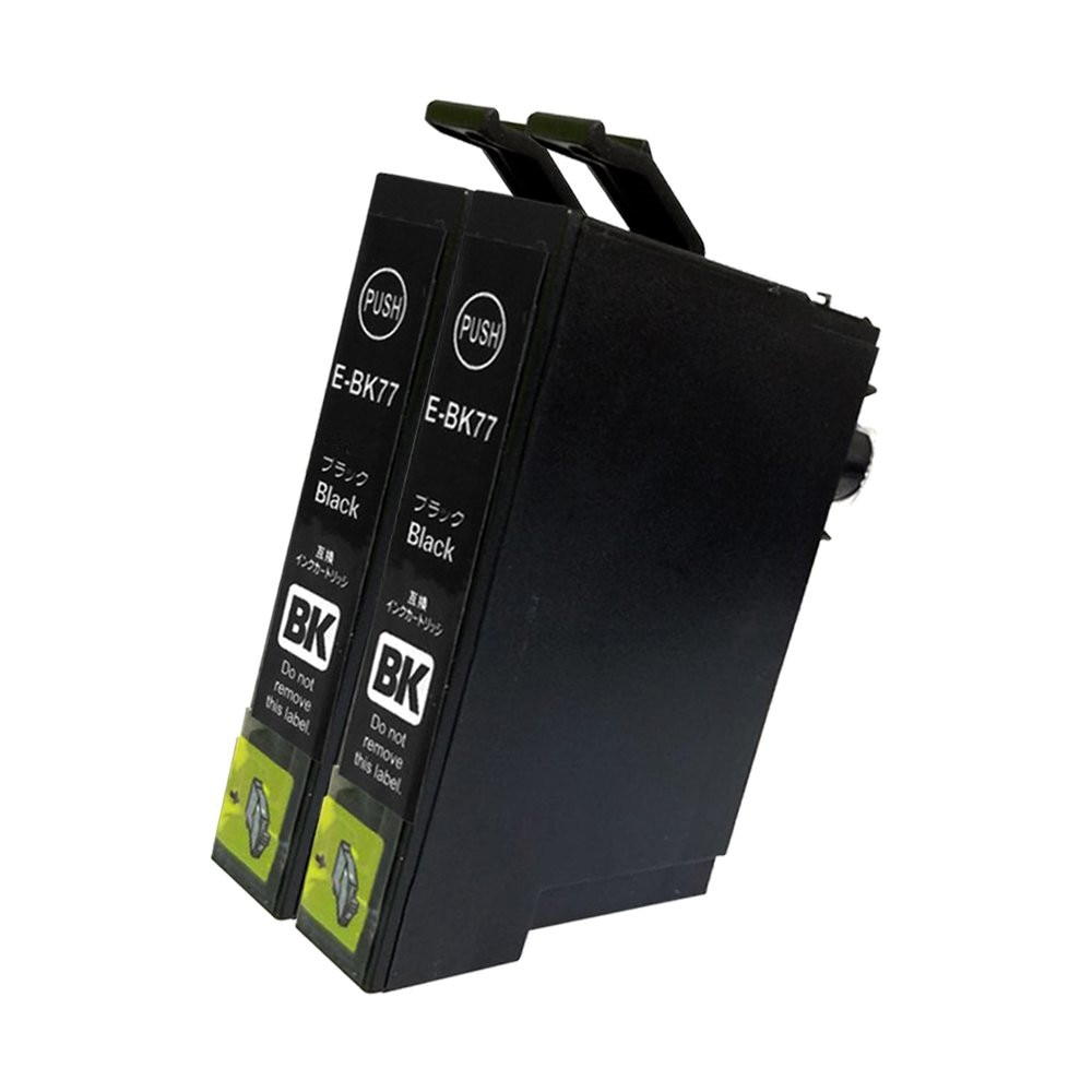 ICBK77 2本セット ブラック エプソンプリンター用互換インク EP社 ICチップ付 残量表示機能付