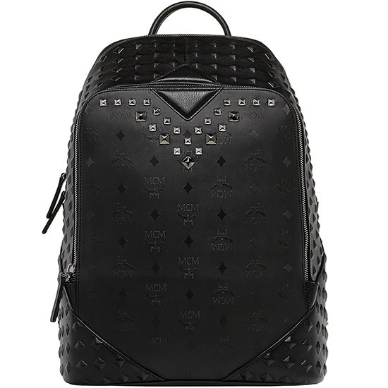 ★【MCM 正規品】★15SS DUKE HONSHU VISETOS MEDIUM BACKPACK★MMK5SDK10BK★【EMS無料発送】★