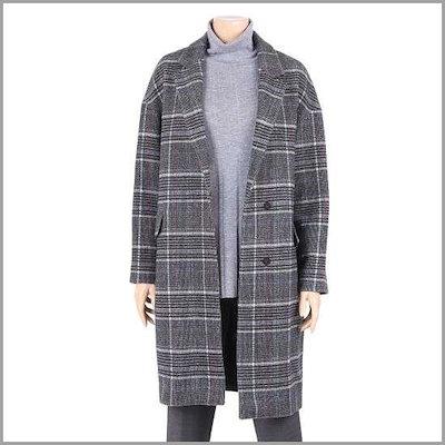 [クレソン]チェックハーフコートFWCMHA85CC /ハーフコート/コート/韓国ファッション