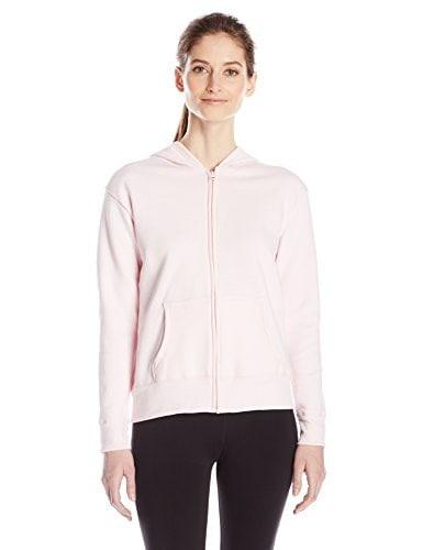 Hanes Womens Full Zip Hood, Pale Pink, Medium