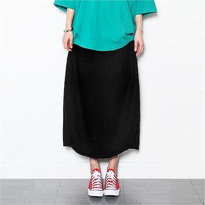 [送料無料]ポケットに広がることにロングスカート 女性のスカート/ロングスカート/韓国ファッション