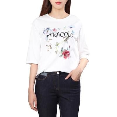 オリーブ・デ・オリーブMIRACOLOレタリングティーシャツOW7AE199 プリント/キャラクターシャツ / 韓国ファッション