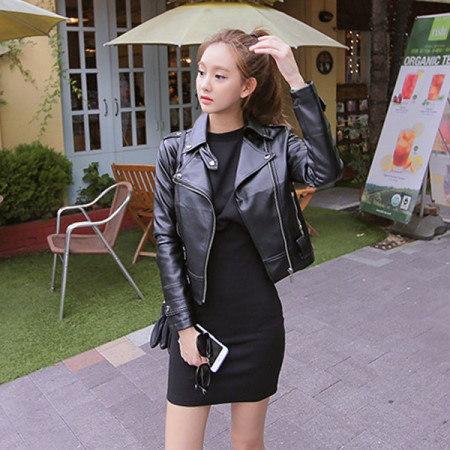 [Tom n Rabbit] mini rider jacket rider jacket leather jacket business jumper stylish look korean fas