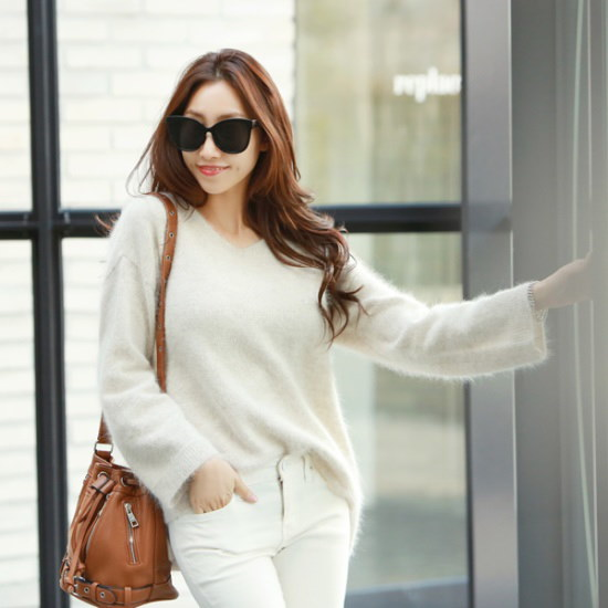 ピピンコトゥリブイネクアンゴラ筒袖ニット104750 ニット/セーター/ニット/韓国ファッション