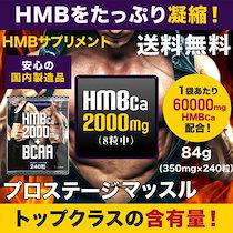 【送料無料】魅せる体に、理想の筋肉を求める方に!HMB カルシウム+BCAA 「プロステージマッスル」 国内製造 240粒(84g)30日分 HMB サプリ