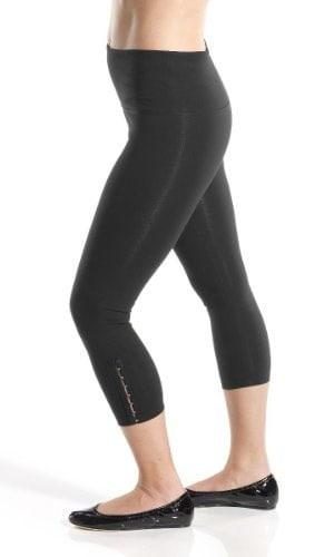 Lysse leggings for women - Hook N Eye Capri(Black,L)