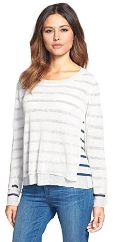 Eileen Fisher Double Layer Bateau Neck Sweater, Soft White, Petite Large