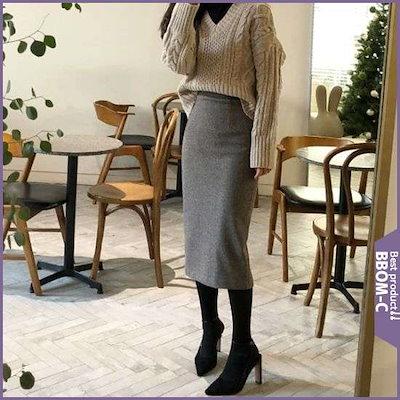 [、ベニト・][、ベニト・]ヘリンボーン・デル・スカート(2color) /スカート/Hライン・スカート/ 韓国ファッション