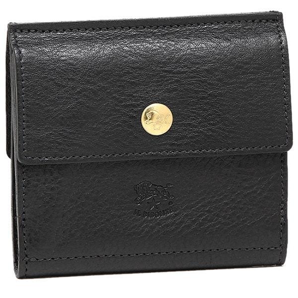 イルビゾンテ 財布 IL BISONTE C0910 P 153 二つ折り財布 BLACK