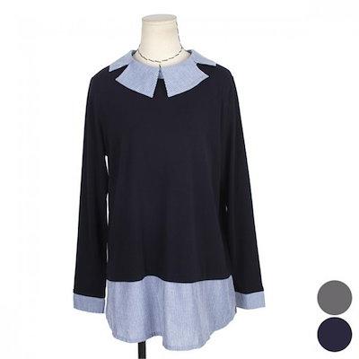 ネオクビカビックサイズくれるか配色、がくのティーシャツBRS336 /ラウンドTシャツ/ Tシャツ/韓国ファッション
