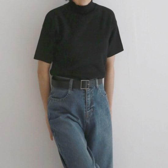 デイリー・マンデーCozy soft half knitニート ニット/セーター/タートルネック/ポーラーニット/韓国ファッション
