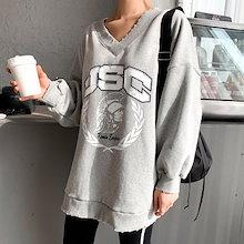 『Naning9』★ラメズ ブイネック裸塩マンツーマン/ おしゃれなシルエットのファッションコーデー提案!ハイクォリティー/韓国ファッション
