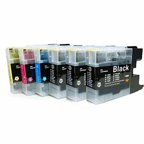 brother ブラザー LC12 残量表示可能 互換インクカートリッジ 最優良品質 (LC12-4PK(BK/C/M/Y)-4色セット+ブラック2本 計6本)
