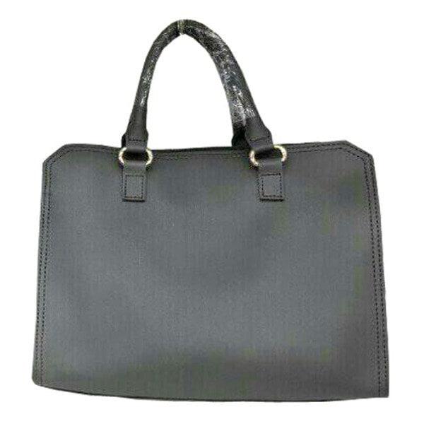 ビジネスシーンで使える♪パカっと開くフルランドファスナーハンドバッグ/グレイ