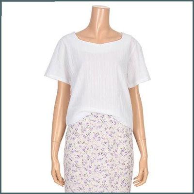 [ビジット・インニューヨーク]ベーシックスクエアネックブラウス(V9ASSD09) /ルーズフィット/ロングシャツ/ブラウス/ 韓国ファッション