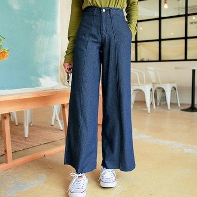 ★韓国商品c039★(Deepny)リンダワイドパンツジーンズ♥女性ファッション服/シャツ、ナシファッション♥