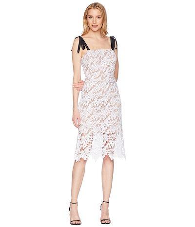 ドナモーガン レディース ワンピース トップス Lace Dress with Contrast Self-Tie Shoulder