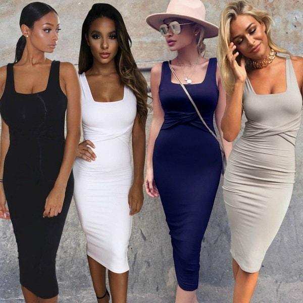 2017新しいファッションボディコン包帯ドレス女性スパゲッティストラップクリスクロスVestidosセクシーミッドカーフサム