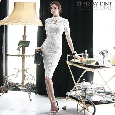 「DINT」 ★送料無料★D2688♥ラグジュアリーオフィスルック♥働く女子のお洒落なオフィススタイル提案!!Romantic Lace Dress