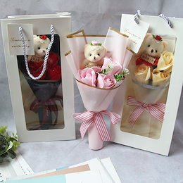 ソープフラワー ロングボックス ギフト シャボンフラワー 誕生日 プレゼント 女性 結婚祝い 女友達 退職祝い 花 フラワーボックス フラワーソープ