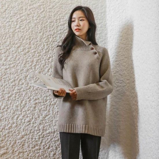 ジャストウォン冷笑的ボトゥンネク・ニット ニット/セーター/タートルネック/ポーラーニット/韓国ファッション