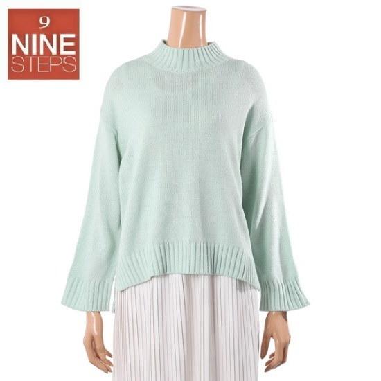 ナインステップマカロンバンポルニートN17NW7504 ロングニット/ルーズフィット/セーター/韓国ファッション