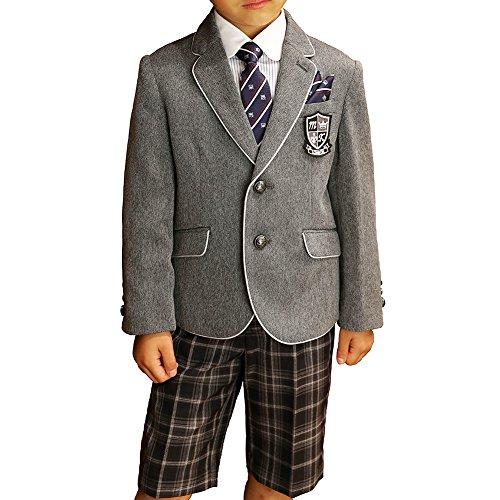 MICHIKO LONDON (ミチコロンドン) 入学式 男の子 2671-5422 パイピングジャケットスーツ 100 110 120 130cmグレー130 B