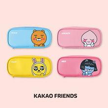 【Kakao friends】カカオフレンズフェーススリムポーチ・マルチペンケース/Face slim pouch・multi pen case/4種・200X90X30mm