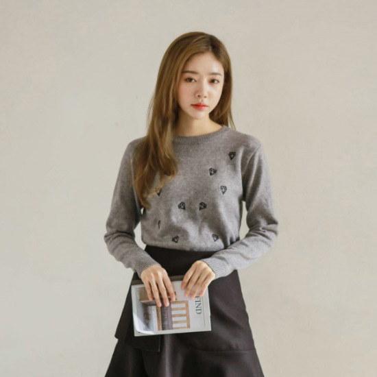 ジャストウォンダイヤのキャッシュタッチニット ニット/セーター/ニット/韓国ファッション