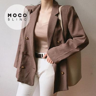 【MOCOBLING】 韓国ファッション ジャケット / シナモンクッキー - jk