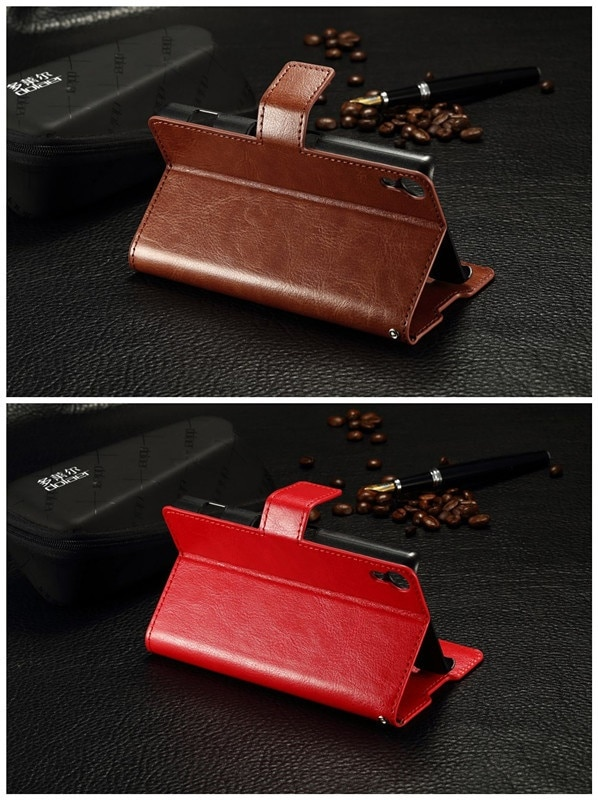 Sony Xperia Z4 docomo SO-03G/au SOV31 用 手帳型レザーケース/シンプルカバー/カード、札入れ収納/スタンド機能【管理番号:A493】