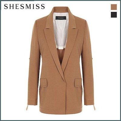 [シーズ・ミス]、シーズ・ミスロールアップ・スリーブオープンジャケットSWWJKG70060 /テーラードジャケット/ 韓国ファッション