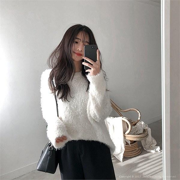ロリポップニットルーズフィットラウンドネックnew 女性ニット/ラウンドニット/韓国ファッション