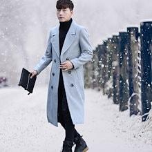 2018 秋冬人気商品 韓国ファッション メンズ  コート  厚手 アウター    欧米風  流行 トレンド  シンプル 上質 DY18101201  4COLOR